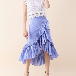 🆕NWT Chic Wish Ruffle Tier Frill Skirt Size Small